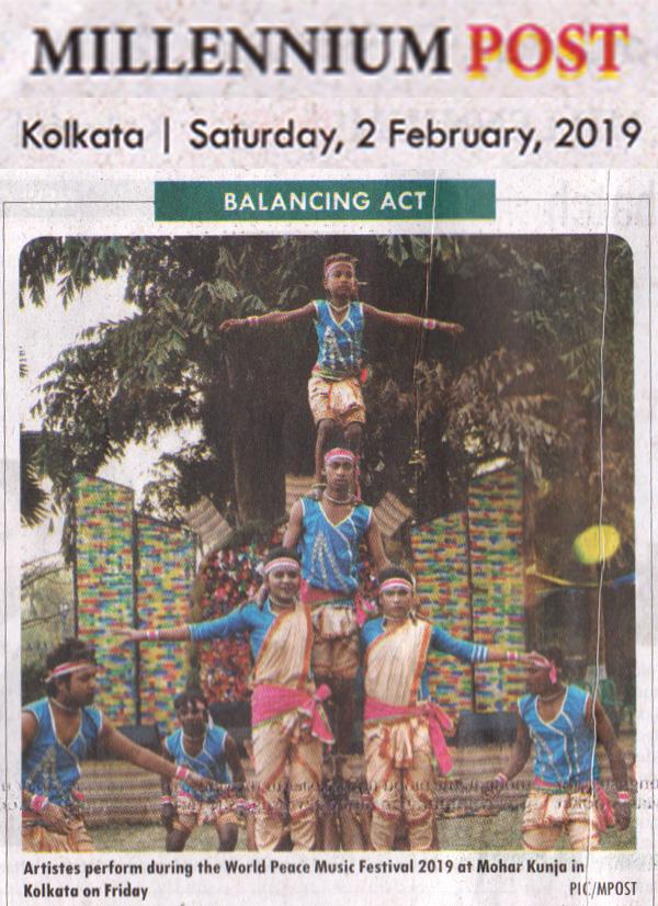 News clippings of Sur Jahan 2019 Kolkata_Millennium Post 2 February 2019